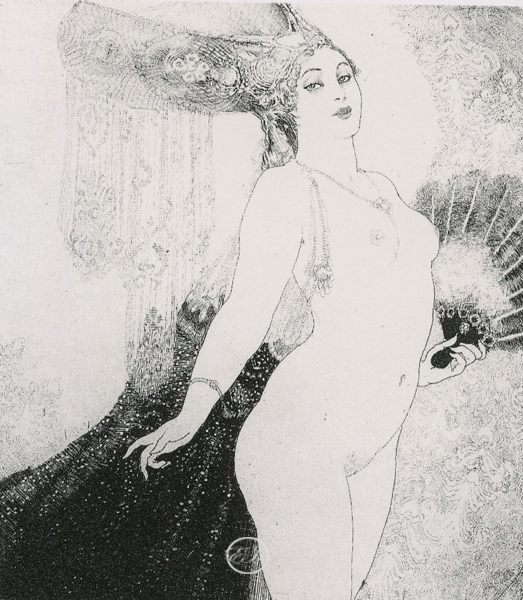 Courtesan Facsimile Etching