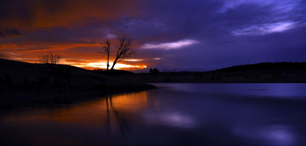 Sunset on the bidgee