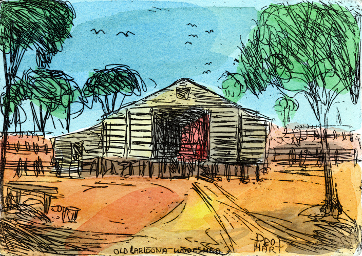 Old Larloona Woolshed