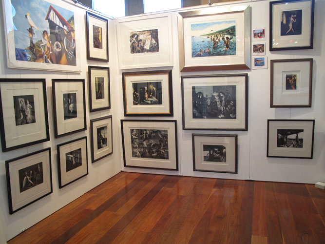 Garry Shead at Melbourne Art Show