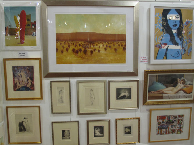 Eclectic display at Etching House Show