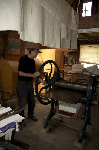 Making an John Olsen Etching