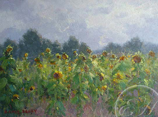 Sparkling Sunflowers