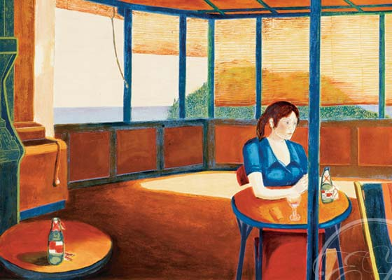 Girl in Afternoon Cafe
