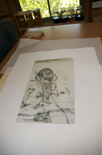 John Olsen etching print